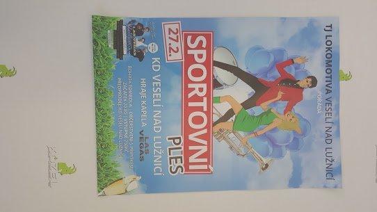 Plakát Sportovní ples - Veselí nad Lužnicí