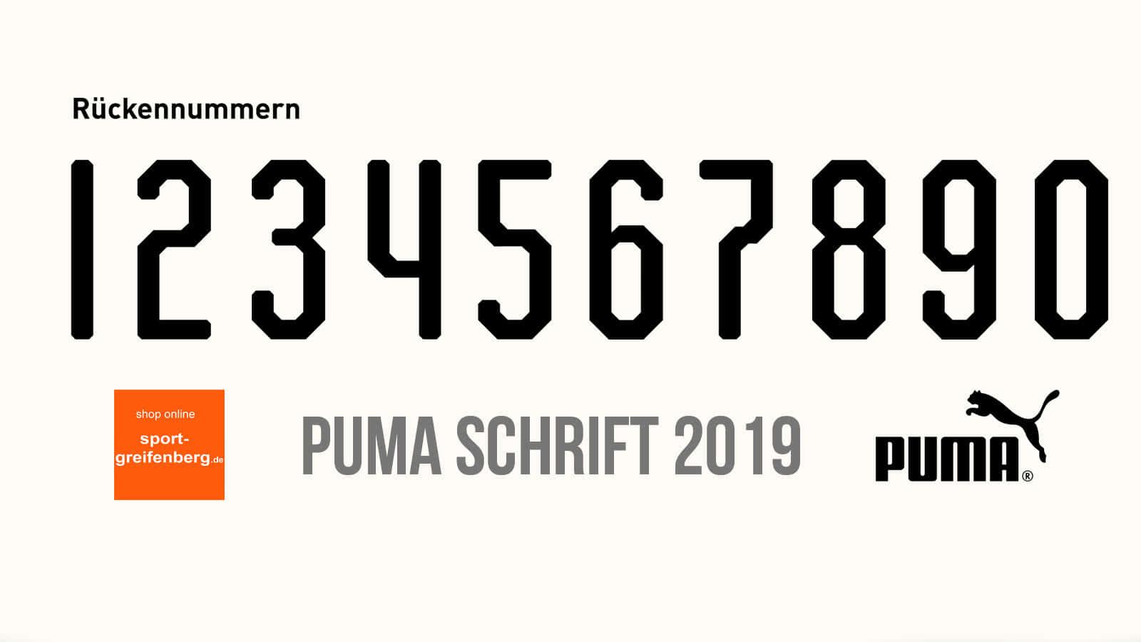 Offizielle Puma Original Schriftart Fur