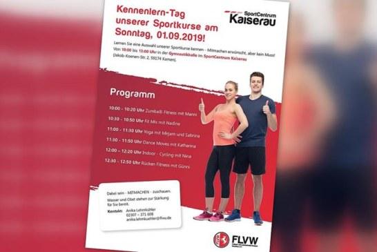 FLVW-Sportkurse: Kennenlern-Tag am 1. September