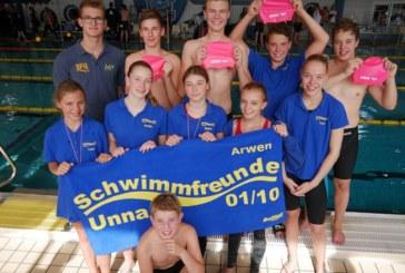 SFU-Jugend eröffnet mit zahlreichen Bestzeiten die Kurzbahn-Saison in Bergkamen