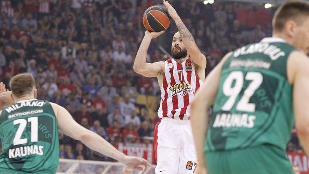 Έκανε το 1-1 ο Ολυμπιακός 79-68 την Ζάλγκιρις (video)