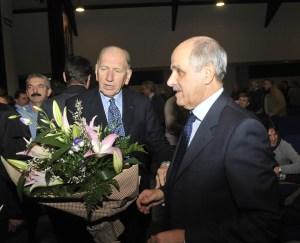 Il presidente Renato Di Rocco in compagnia di Vittorio Adorni (foto Mosna)