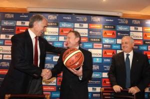 La conferenza stampa congiunta di Petrucci e Malagò