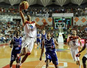 Un fase della semifinale Acea Lenovo (foto Ciamillo&Castoria)