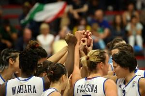 Torna finalmente il sorriso alle azzurre a Eurobasket 2013 dopo il successo contro la Slovacchia