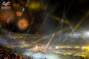 Un momento della cerimonia di inaugurazione dei World Games 2013