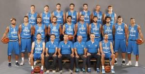 Il team Italia in occasione della presentazione del European Basketball Tour