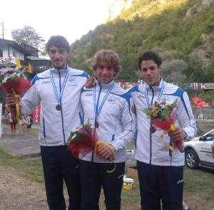 Giovanni de Gennaro, Luca Colazingari e Christian De Dionigi  agli Europei Canoa Slalom