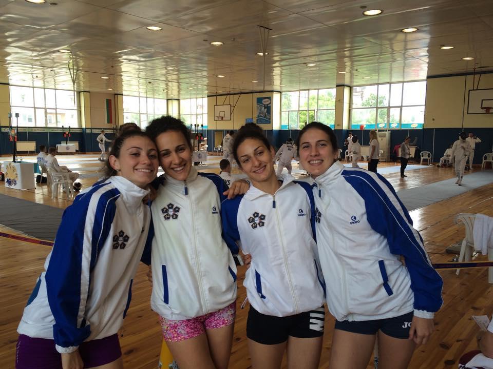 Il quartetto azzurro juniores in azione a Sofia ai Campionati Europei