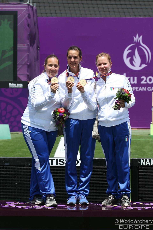 Arco a squadre femminile, Baku 2015