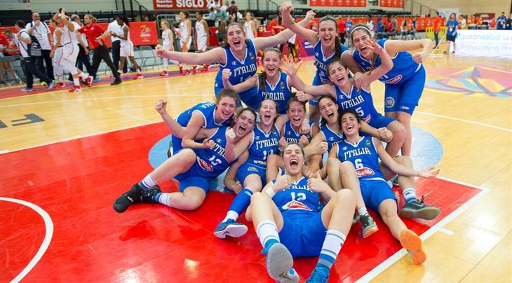 Azzurrine U17 basket