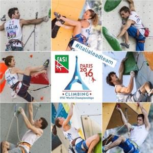Mondiali Arrampicata Parigi, Azzurri Lead