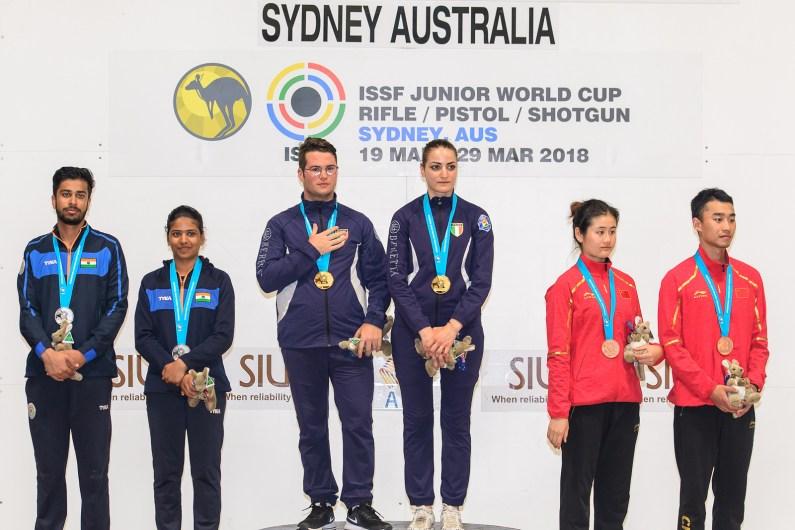 Sessa-Petroni coppia d'oro nel Trap Mixed Team ai Mondiali Junior