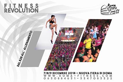 Roma Fitness 2018, alla Fiera di Roma dal 7 al 9 dicembre