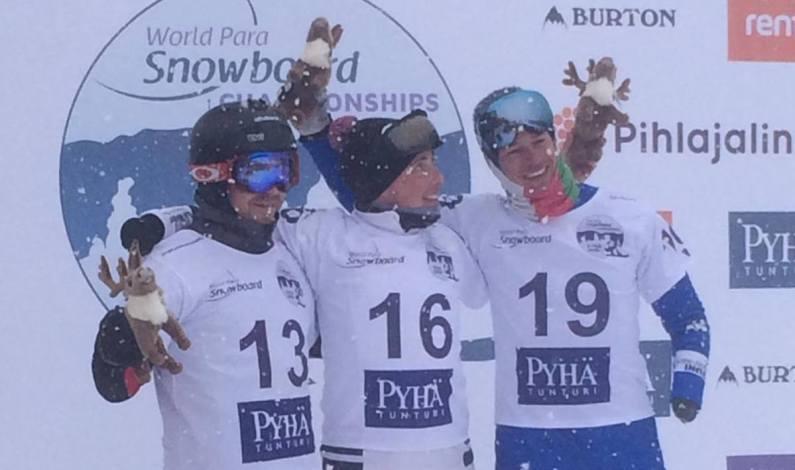 Jacopo Luchini bronzo ai mondiali di para snowboard di Pyha