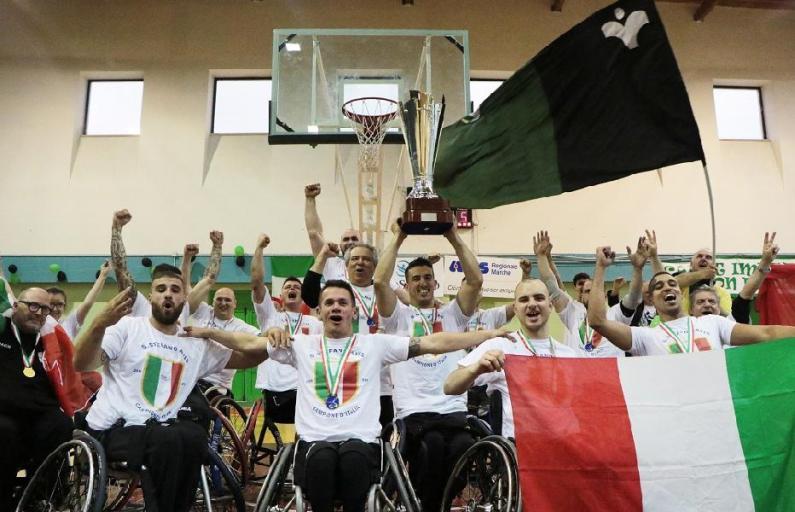 Basket in carrozzina: Santo Stefano Avis per la prima volta vince il titolo