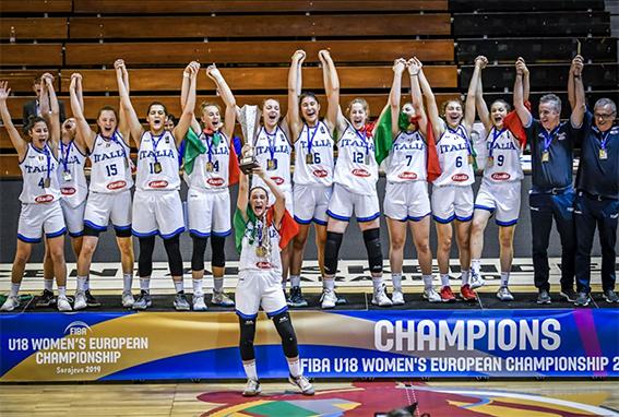 Eurobasket U18 femminile, l'Italia campione d'Europa