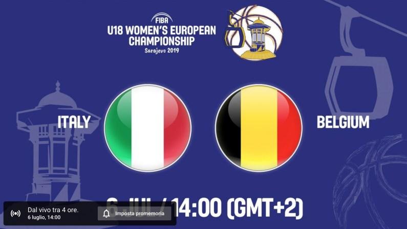 Europeo Basket U18 Femminile, oggi il via a Sarajevo