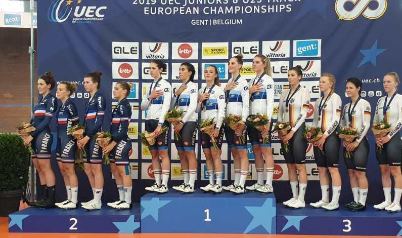 Europei pista U23 e Jrs – Inseguimento U23 donne oro e record italiano
