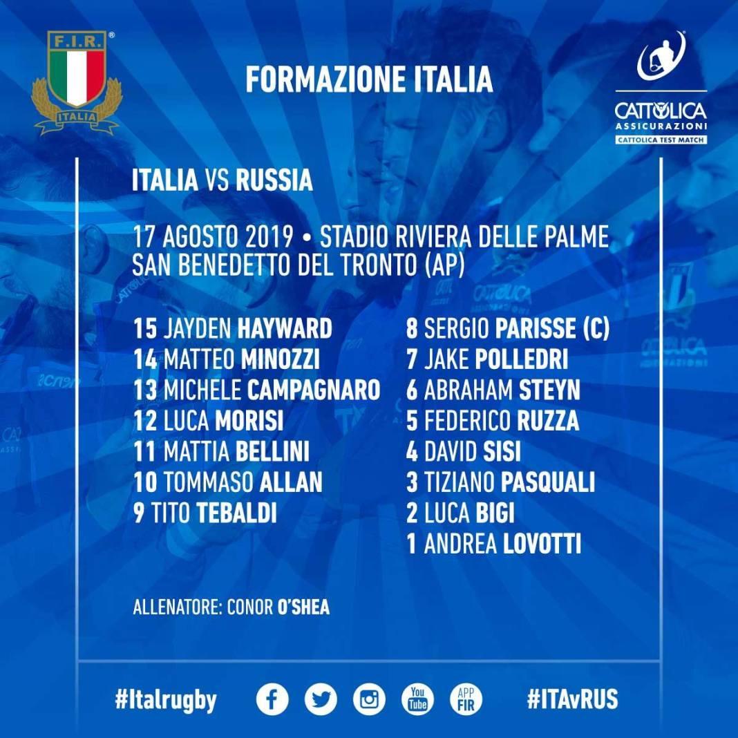 Test Match Italia v Russia