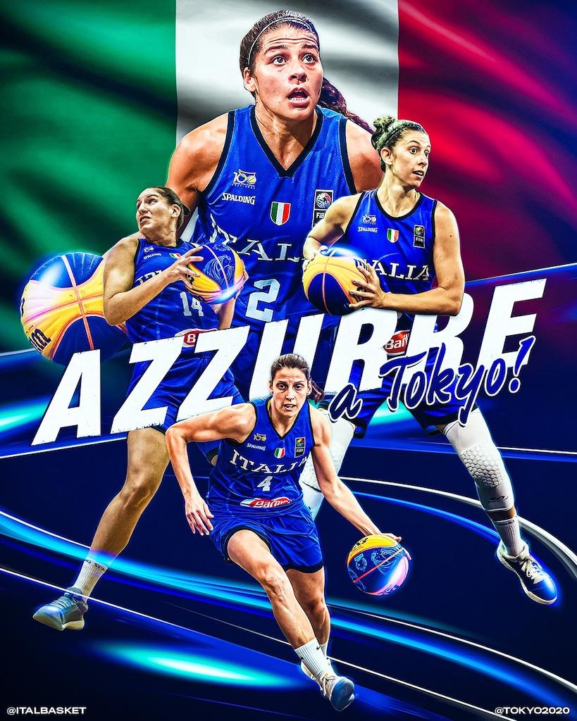 Il basket italiano torna alle Olimpiadi, qualificata la Nazionale 3x3  femminile