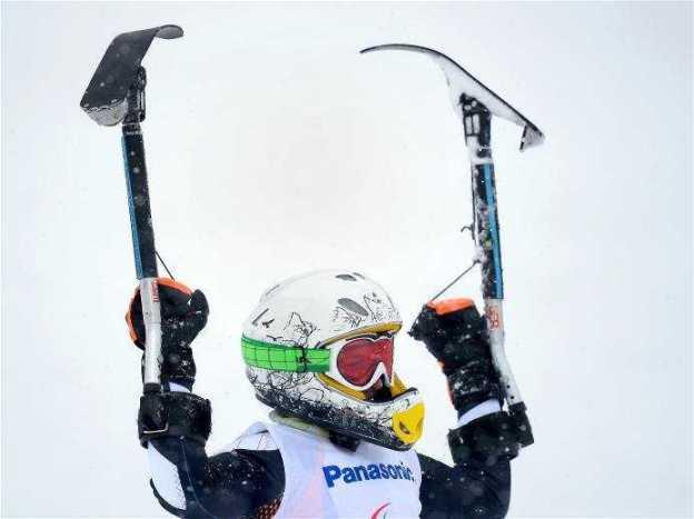 Sotchi 2014 Paralympics: Silbermedaillengewinnerin Anna-Lena Forster im Ziel - Foto: Sotchi 2014 Paralympic Winter Games