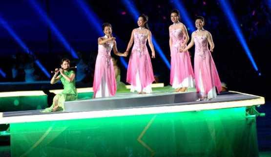 Olympische Jugendspiele Nanjing 2014: Schlussfeier als Fest der Farben, Klänge und Lichter - Der Abschied von den Spielen fiel fröhlich und farbenfroh aus - Foto: DOSB
