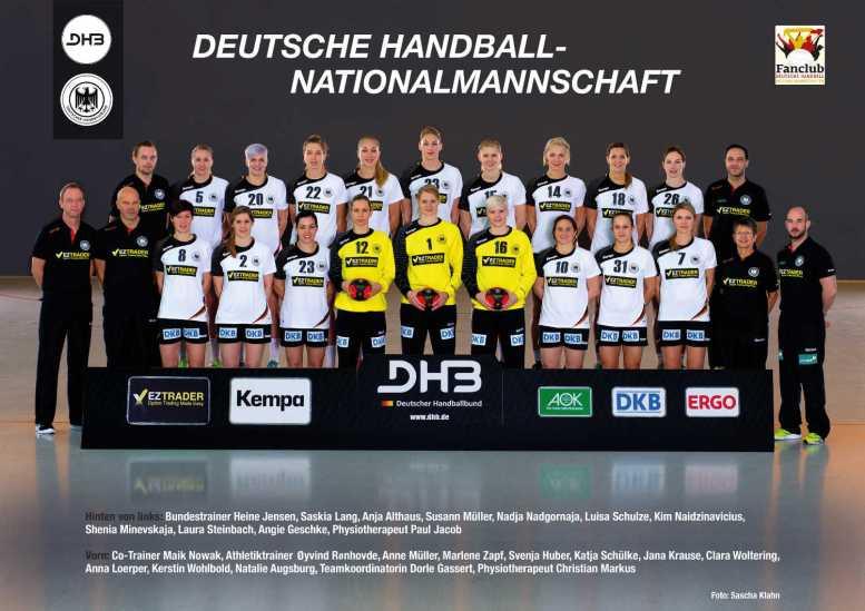 Handball-EM 2014: Frauen-Nationalmannschaft des Deutschen Handballbundes - Foto: DHB/Sascha Klahn
