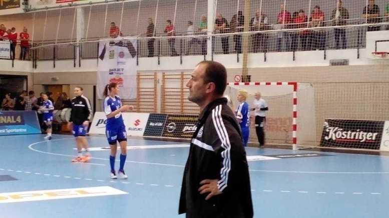 Handball-EM 2014: In der Champions League mit Buducnost Podgorica unterwegs beim Thüringer HC: Dragan Adzic (Vordergrund) und Katarina Bulatovic sowie Suzana Lazovic - Foto: SPORT4Final