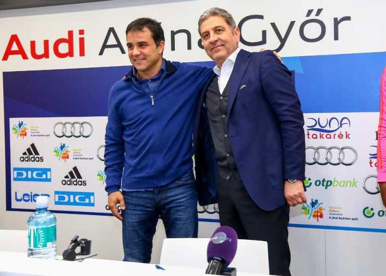 Győri Audi ETO KC mit 2 Verstärkungen – Ambros Martin verlängert - Ambros Martin (li.) und Ernö Kelecsényi - Foto: Anikó Kovács und Tamás Csonka (Győri Audi ETO KC)