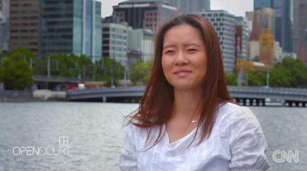 "Li Na - Foto: CNN International ""Open Court"""