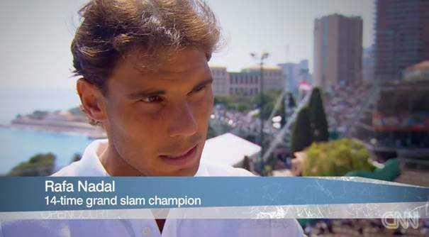 """CNN """"Open Court"""" mit Pat Cash aus Monte Carlo und """"schlauen Schlägern"""" - Rafael Nadal - Foto: CNN International """"Open Court"""""""