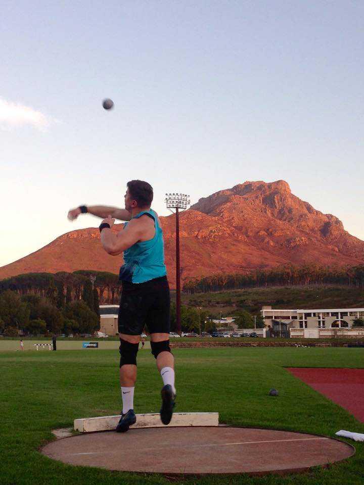 David Storl im Trainingslager in Stellenbosch (Südafrika) - Foto: David Storl