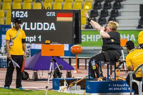 Leichtathletik-WM: Ilke Wyludda - Foto: Marcus Hartmann, www.photo-hartmann.de