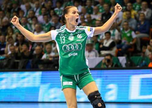 "Győri Audi ETO KC besiegte Vardar Skopje in letzter Sekunde. Anita Görbicz ""Matchplayerin"" - Foto: Anikó Kovács und Tamás Csonka (Győri Audi ETO KC)"