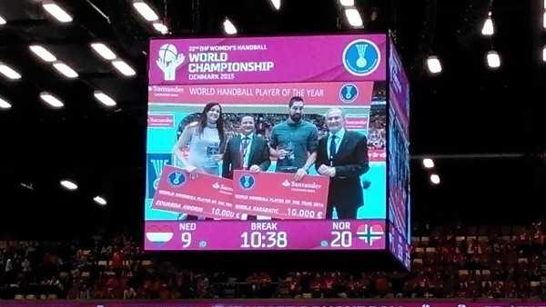 Handball WM 2015: Eduarda Amorim und Nikola Karabatic Welt-Handballer 2014 - Foto: SPORT4Final