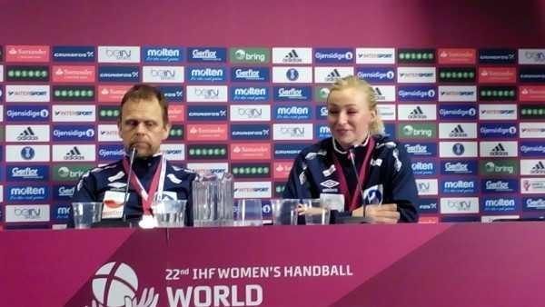 Handball WM 2015 Dänemark: Thorir Hergeirsson (im Bild rechts Stine Oftedal) im Weltmeister-Interview - Foto: SPORT4Final