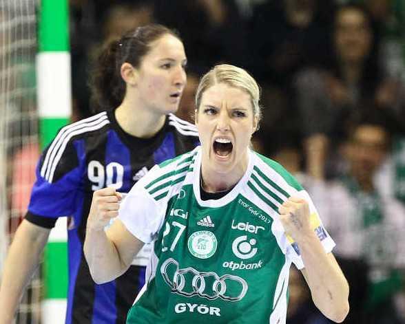 Handball EHF Champions League: Győri Audi ETO KC besiegte Buducnost Podgorica - Cornelia Nycke Groot - Foto: Anikó Kovács und Tamás Csonka (Győri Audi ETO KC)