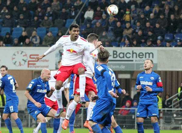 Deutsche Bundesliga, SC Paderborn vs RasenBallsport Leipzig. Image shows Marvin Compper (RB Leipzig). Photo: GEPA pictures/Roger Petzsche