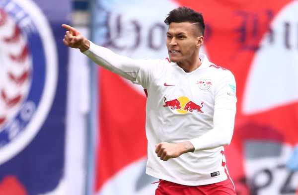 Deutsche Bundesliga, RasenBallsport Leipzig vs. TSV 1860 Muenchen - Davie Selke (RB Leipzig) - Foto: GEPA pictures/Kerstin Kummer