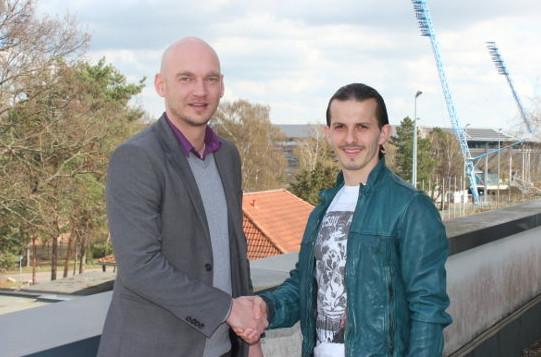 Markus Kompp (Vorstandsvorsitzender FC Hansa Rostock) und Aleksandar Stevanovic - Foto: FC Hansa Rostock