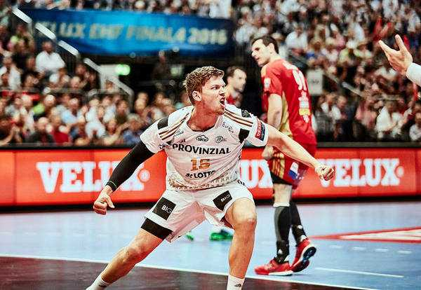 VELUX EHF FINAL4 2016 THW Kiel vs. MVM Veszprem - Christian Dissinger - © 2016 EHF / Uros Hocevar LANXESS Arena, Cologne, Germany