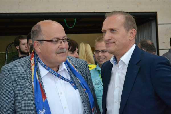 HC Leipzig Präsident Andreas Erzkamp und HCL-Manager Kay-Sven Hähner - Foto: Hans-Joachim Steinbach