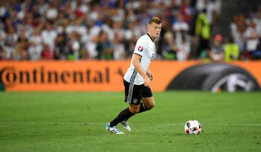 Toni Kroos (Deutschland) – Fussball EM 2016: UEFA EURO Halbfinalspiel zwischen Deutschland und Frankreich im Stade Velodrome am 7. Juli 2016 in Marseille, Frankreich. Foto: Matthias Hangst / Getty Images
