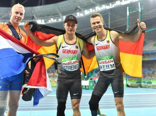 Paralympics Rio 2016: Roland Hertog, Felix Streng und Markus Rehm v.l.) - Foto: Ralf Kuckuck/DBS