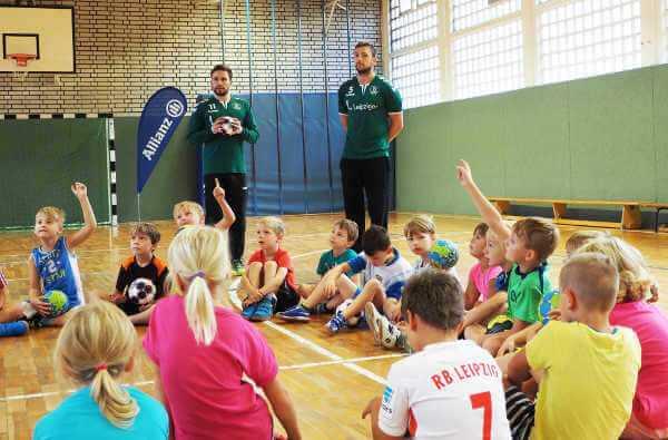 SC DHfK Leipzig: Spieler an Grundschulen unterwegs - Foto: SC DHfK Leipzig