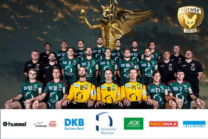Handball: Füchse Berlin Mannschaftsfoto 2016/2017 - Foto: Füchse Berlin