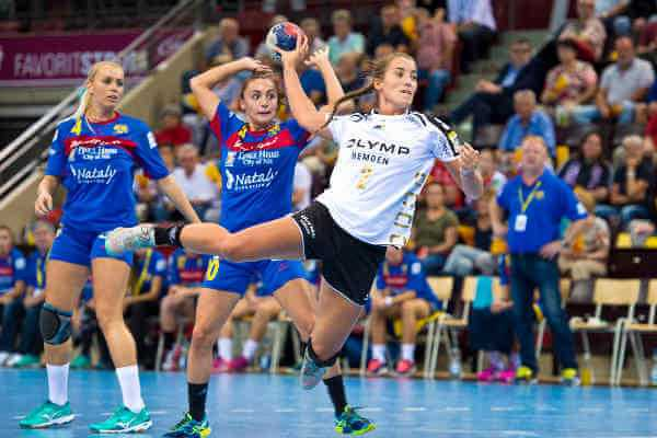 Mia Biltoft - Ludwigsburg, Deutschland 17. September 2016: EHF-Cup Frauen -16/17 - Pokal - SG BBM Bietigheim vs. ZRK Naisa Nis - Foto: Marco Wolf