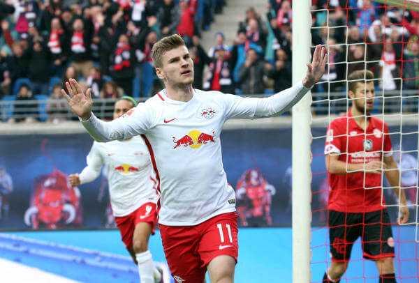 Deutsche Bundesliga, RasenBallsport Leipzig vs. 1. FSV Mainz 05 - Timo Werner (RB Leipzig) - GEPA pictures/Roger Petzsche