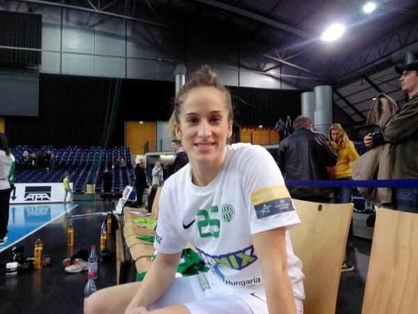 Nerea Pena (FTC Budapest) in der Handball Champions League beim HC Leipzig - Foto: SPORT4FINAL